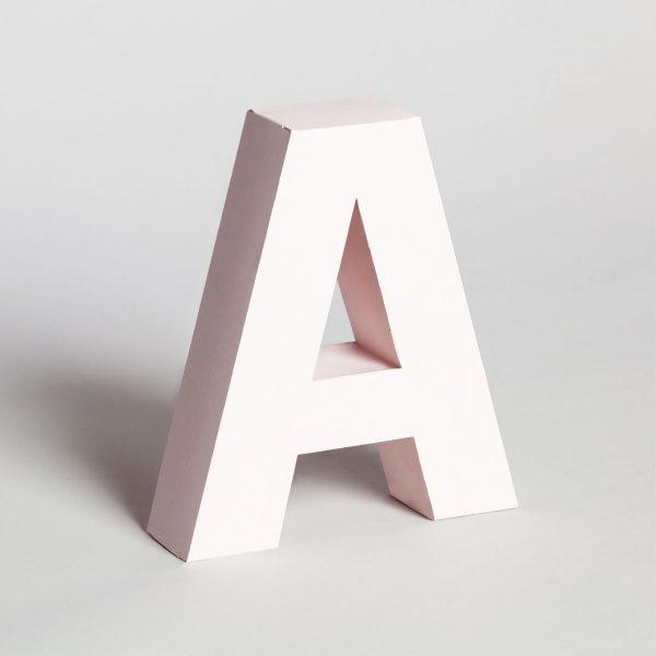 Papertype letter A 3d alphabets