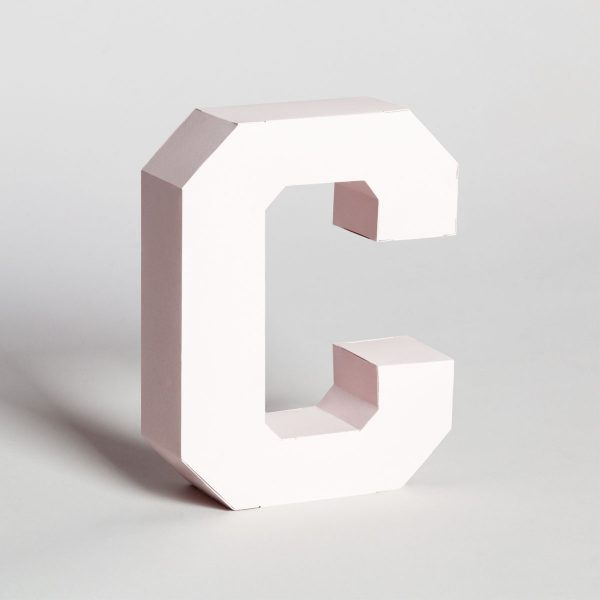 Papertype free standing decorative letters