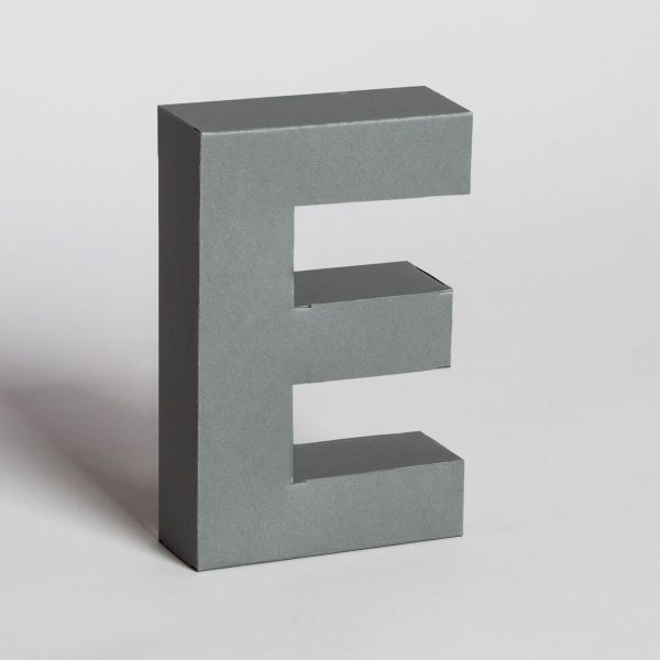 Papertype 3d letters