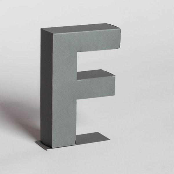 Papertype decorative letters