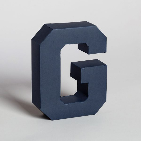 Papertype decorative wall letters