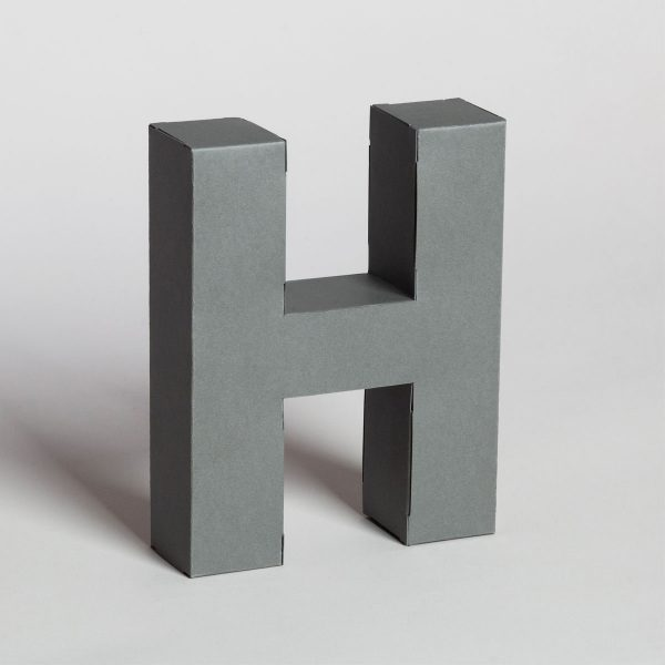 Papertype large decorative letters