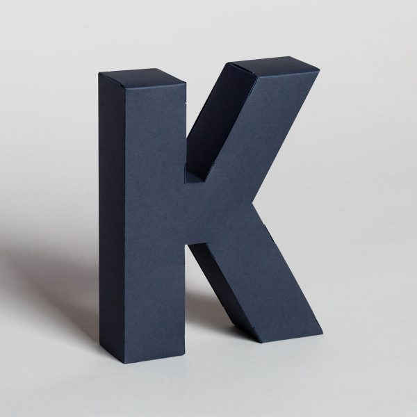 Papertype 3d cardboard letters