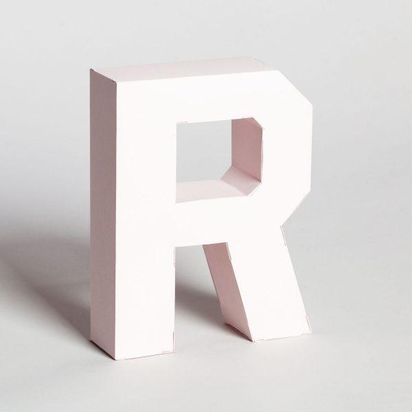 Papertype lettere 3d