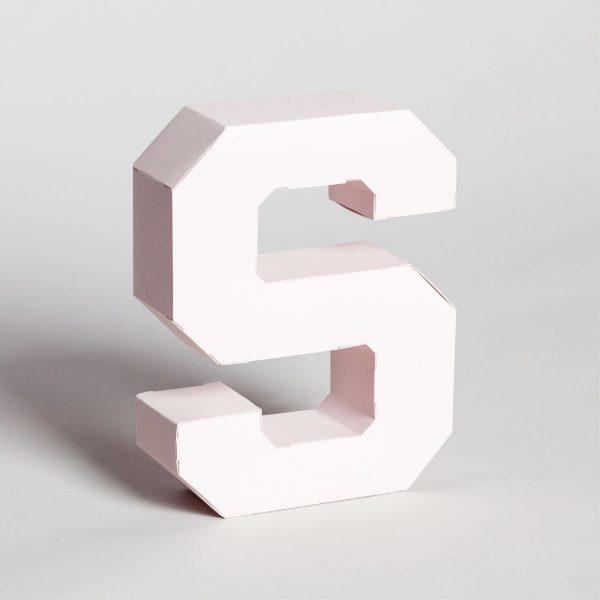 Papertype lettere tridimensionali