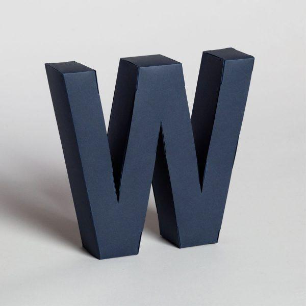 Papertype lettere tridimensionali da muro