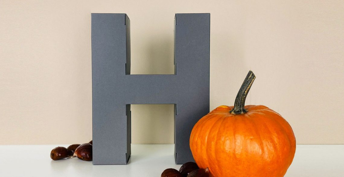 Trick or treat? Papertype letters are the perfect paper box to hide your candies!