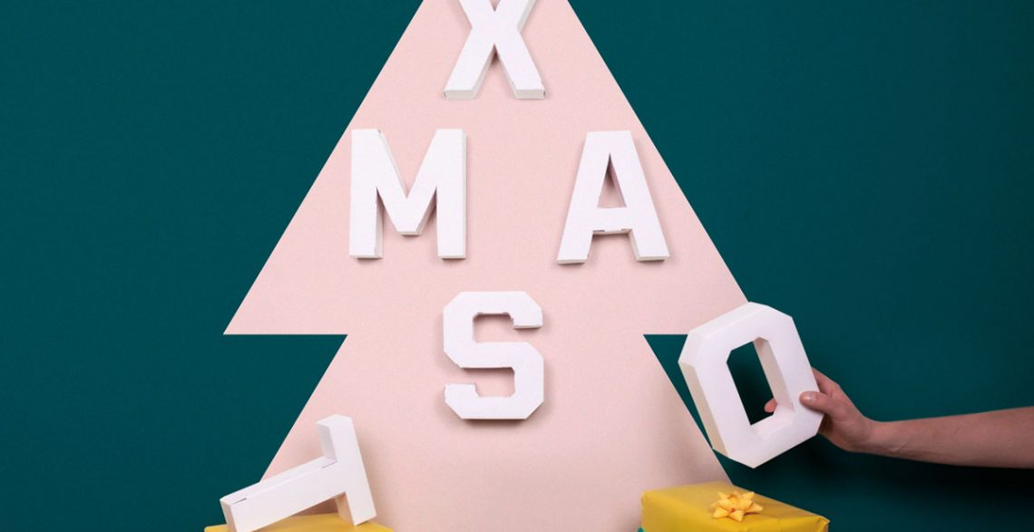 Wish Merry Xmas with Papertype decorative initials!